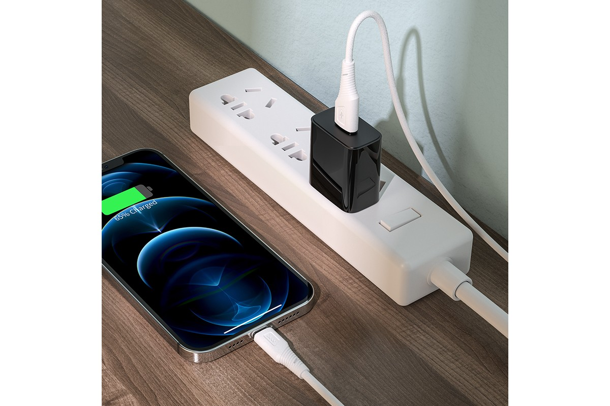 Кабель для iPhone HOCO X58 charging data cable for Lightning 1м белый