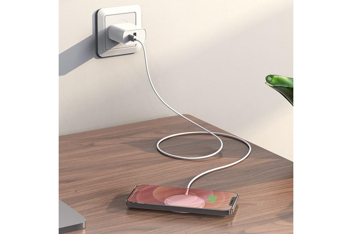 Настольная беспроводная зарядная станция HOCO CW30 Pro Original series magn. wireless fast charger серебристая