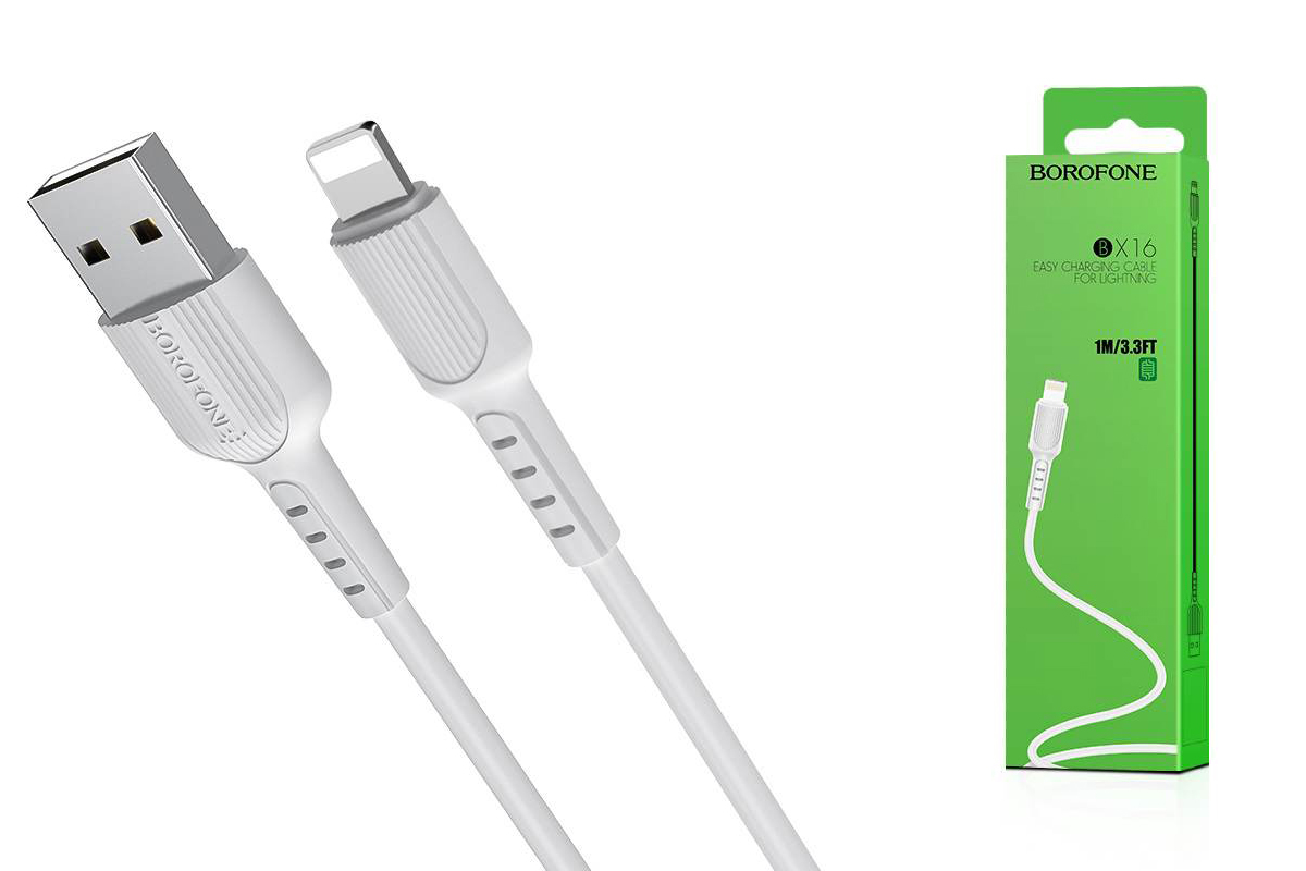 Кабель для iPhone BOROFONE BX16 Easy charging cable for Lightning 1м белый