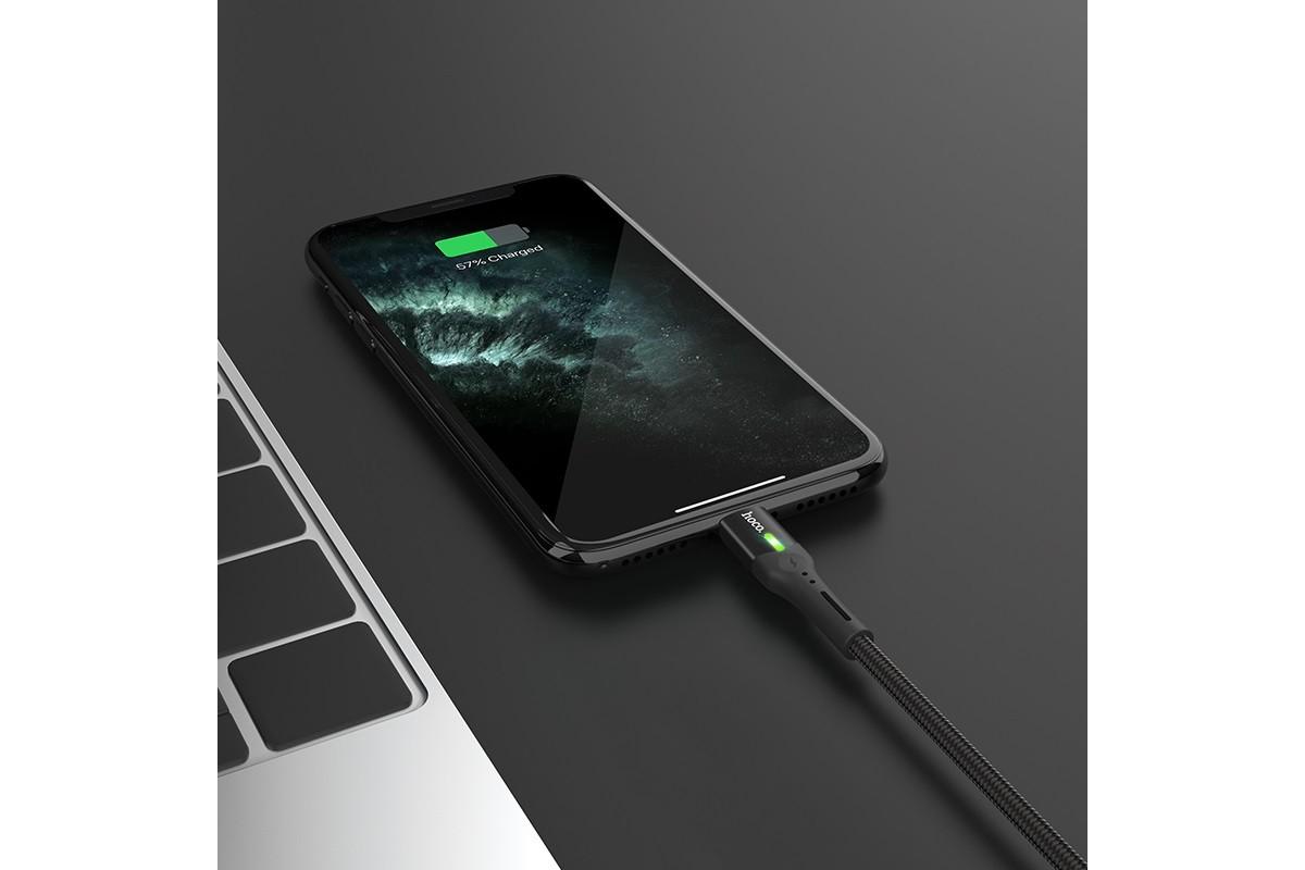 Кабель для iPhone HOCO S24 Lightning celestial charging data cable for Lightning 1м черный