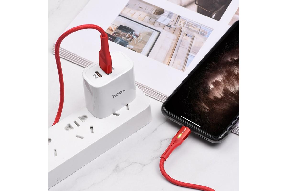 Кабель для iPhone HOCO S24 Lightning celestial charging data cable for Lightning 1м красный