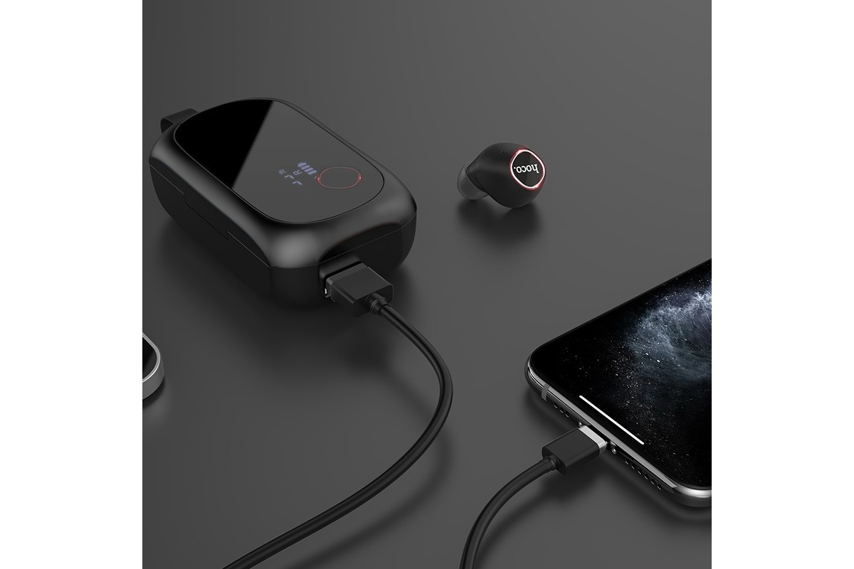 Bluetooth-гарнитура ES37 Treasure song wireless headset HOCO черная