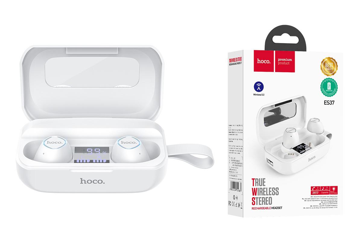Bluetooth-гарнитура ES37 Treasure song wireless headset HOCO белый