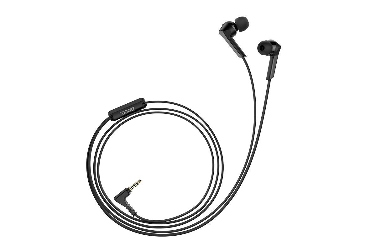 Гарнитура HOCO M72 Admire universal earphones черная