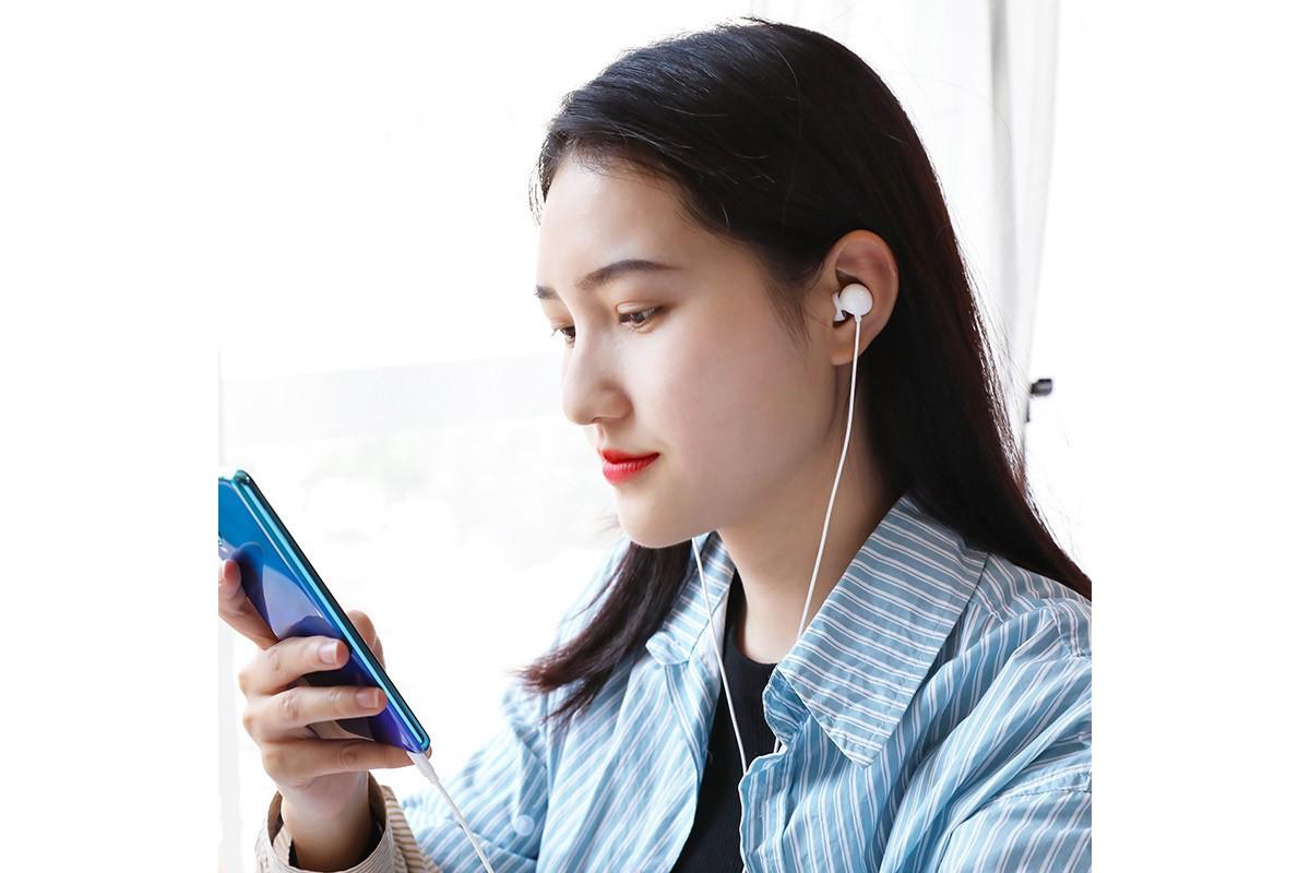 Наушники BOROFONE BM45 Sound wavel earphones 3.5 мм цвет белый