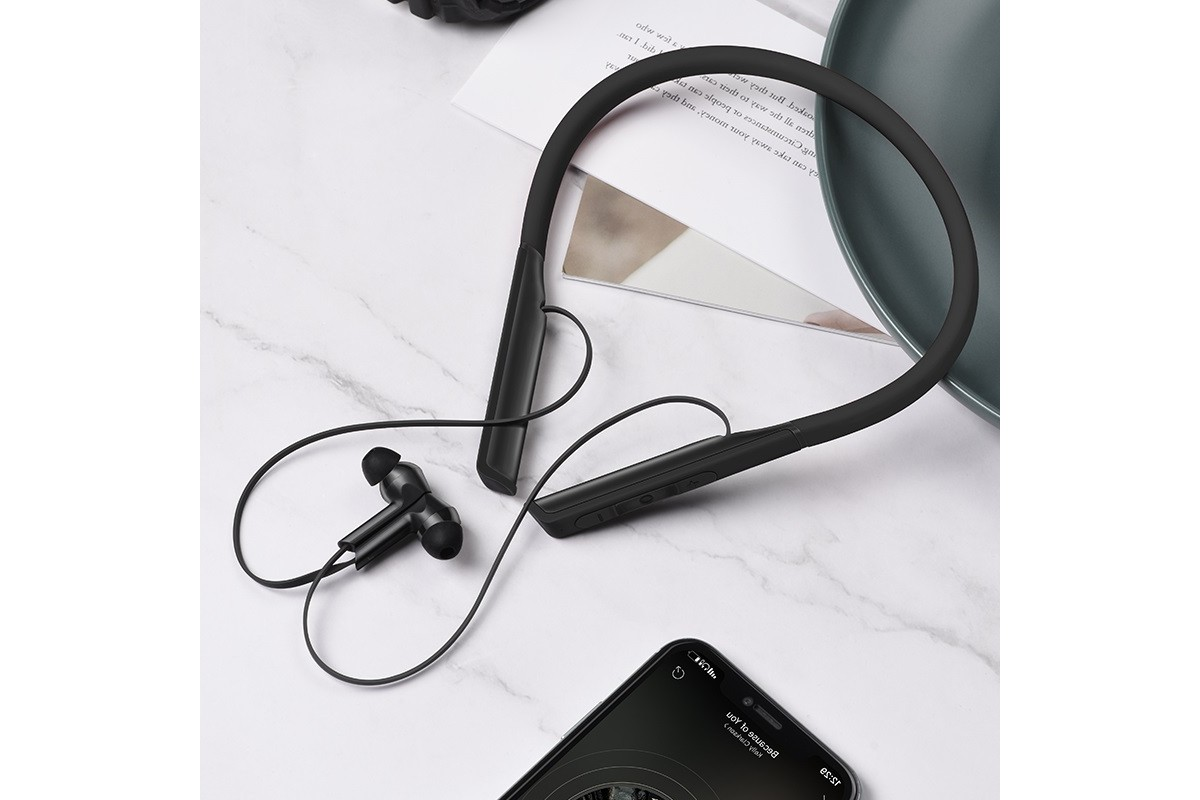 Bluetooth-гарнитура ES33 Mirth sports wireless headset HOCO черная