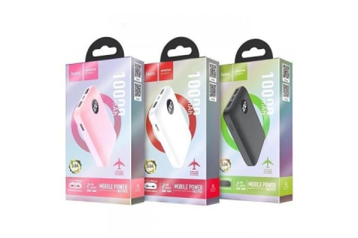 Универсальный дополнительный аккумулятор HOCO  BDY02 Digital display power bank (10000mAh) розовый