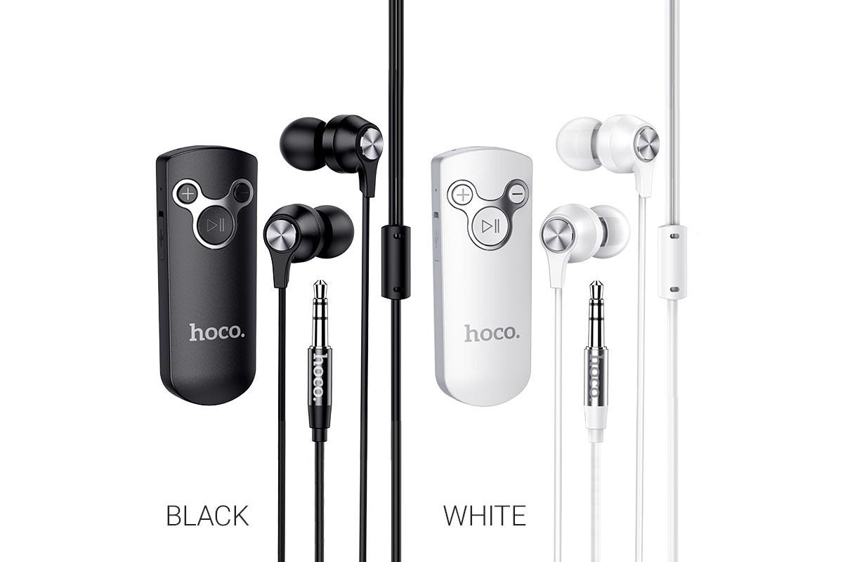 Bluetooth-гарнитура E52 Euphony wireless audio receiver earphone HOCO черная