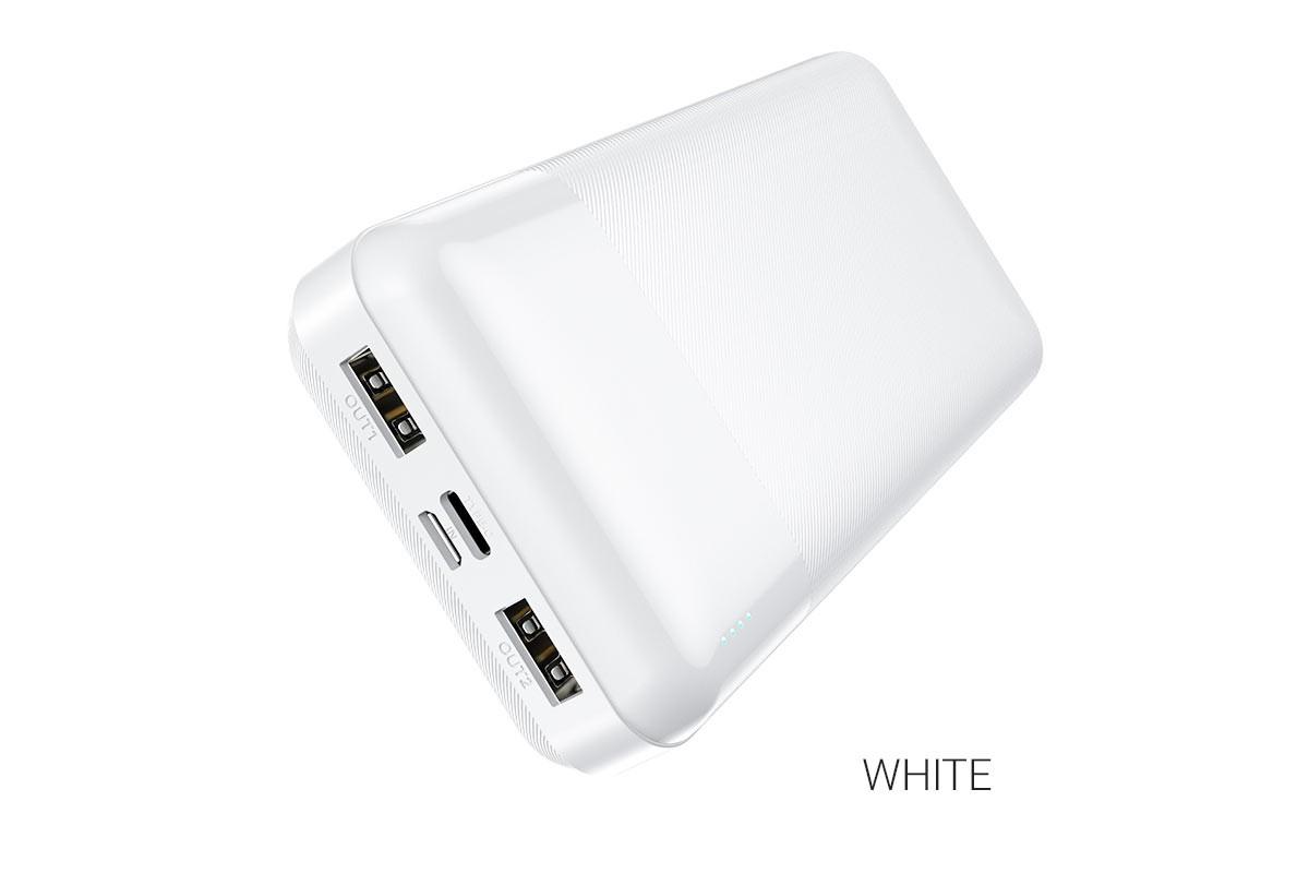 Универсальный дополнительный аккумулятор HOCO J72 Easy travel power bank (20000mAh) белый