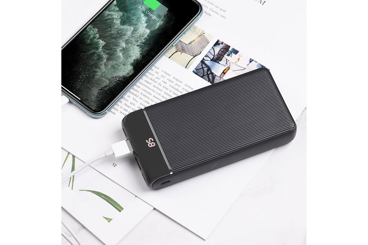 Универсальный дополнительный аккумулятор HOCO J59A Famous mobile power bank(20000mAh) черный