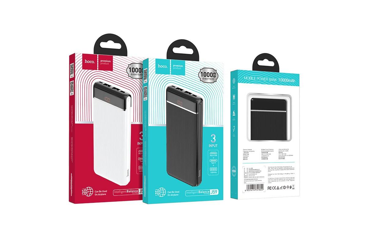 Универсальный дополнительный аккумулятор HOCO  J59 Famous mobile power bank(10000mAh) черный