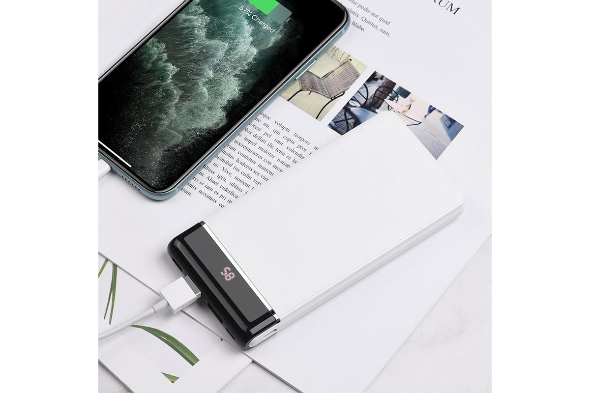 Универсальный дополнительный аккумулятор HOCO  J59 Famous mobile power bank(10000mAh) белый