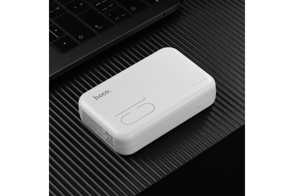 Универсальный дополнительный аккумулятор HOCO  J38 Comprehensive mobile power bank(10000mAh) белый