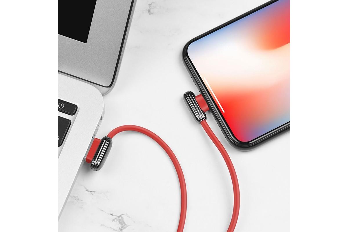 Кабель для iPhone HOCO U60 Soul secret charging data cable for Lightning 1м красный