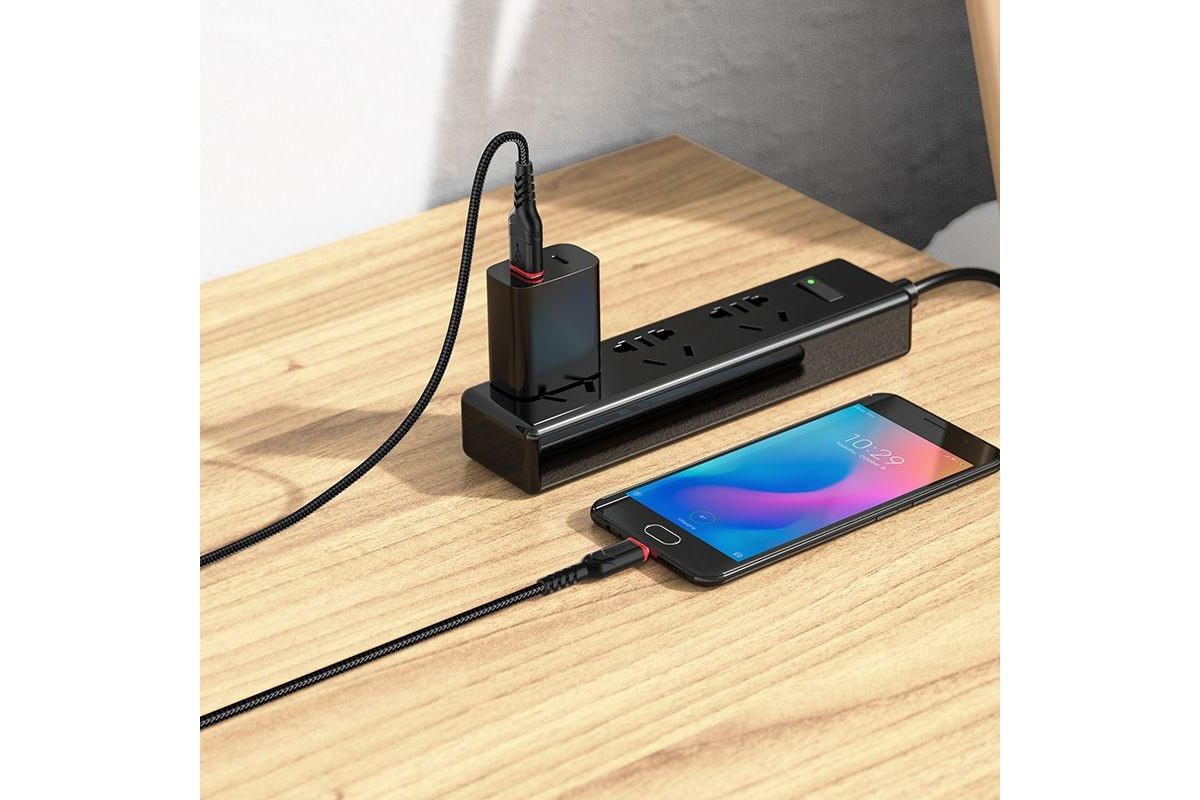 Кабель для iPhone HOCO X59 Victory for Lightning 1м черный