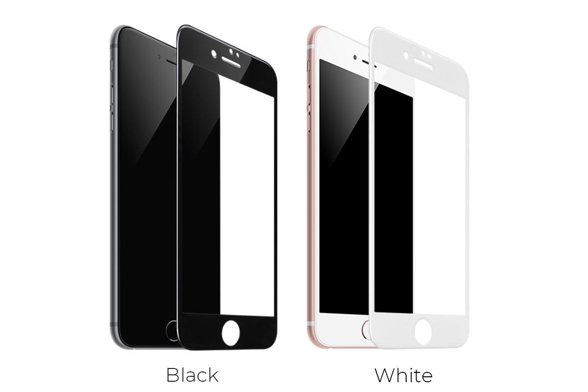 Защитное стекло дисплея iPhone 7/8 (4.7)  HOCO G5 Full Screen HD tempered glass  черное