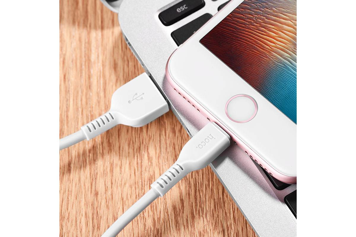 Кабель для iPhone HOCO X13 Easy charged lightning cable 1м белый