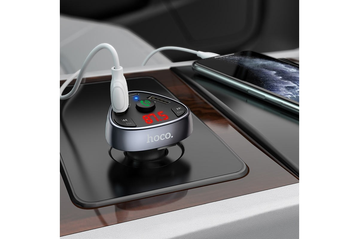 USB MP3 плеер +FM трансмиттер с диспл. HOCO E51 Road treasure car BT FM transmitter