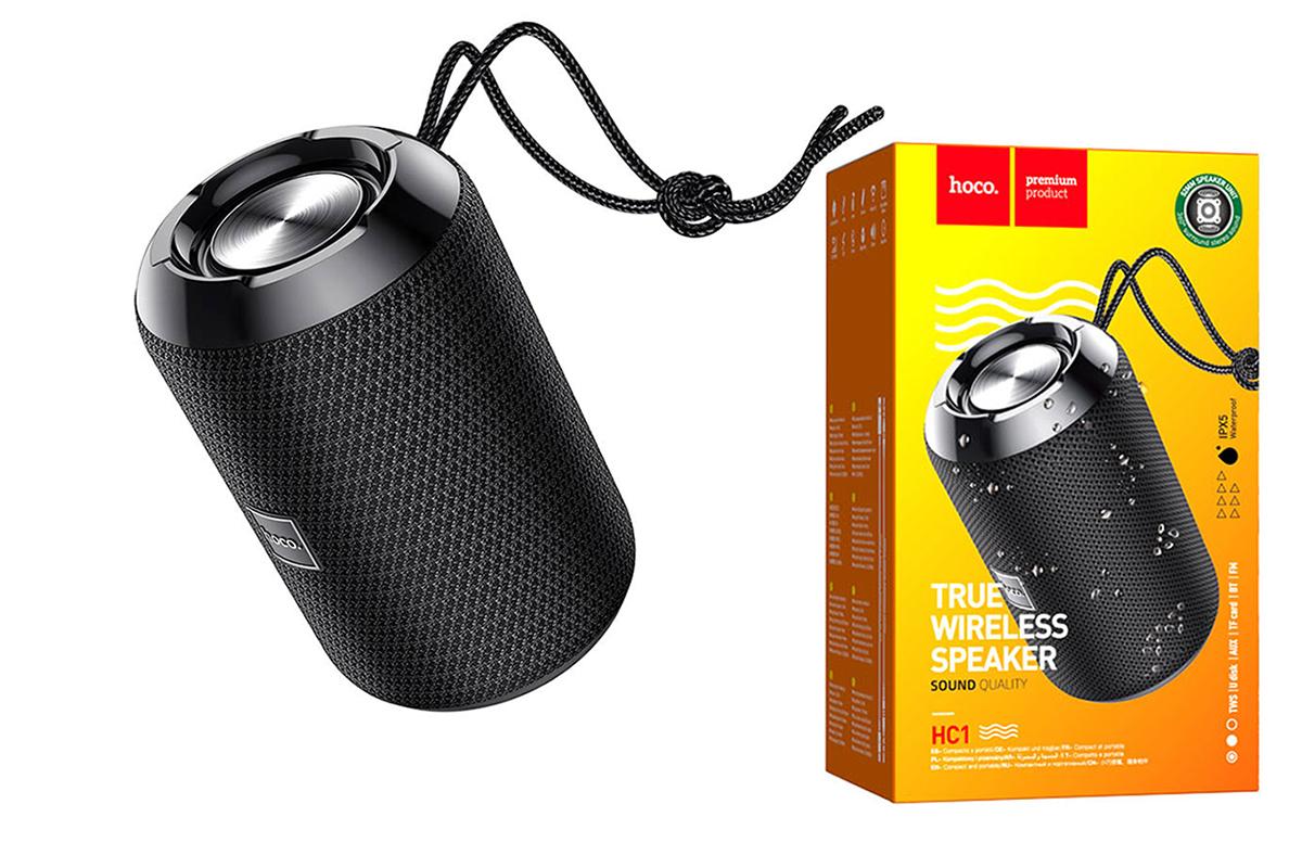 Портативная беспроводная акустика HOCO HC1 Trendy sound sports BT цвет черный