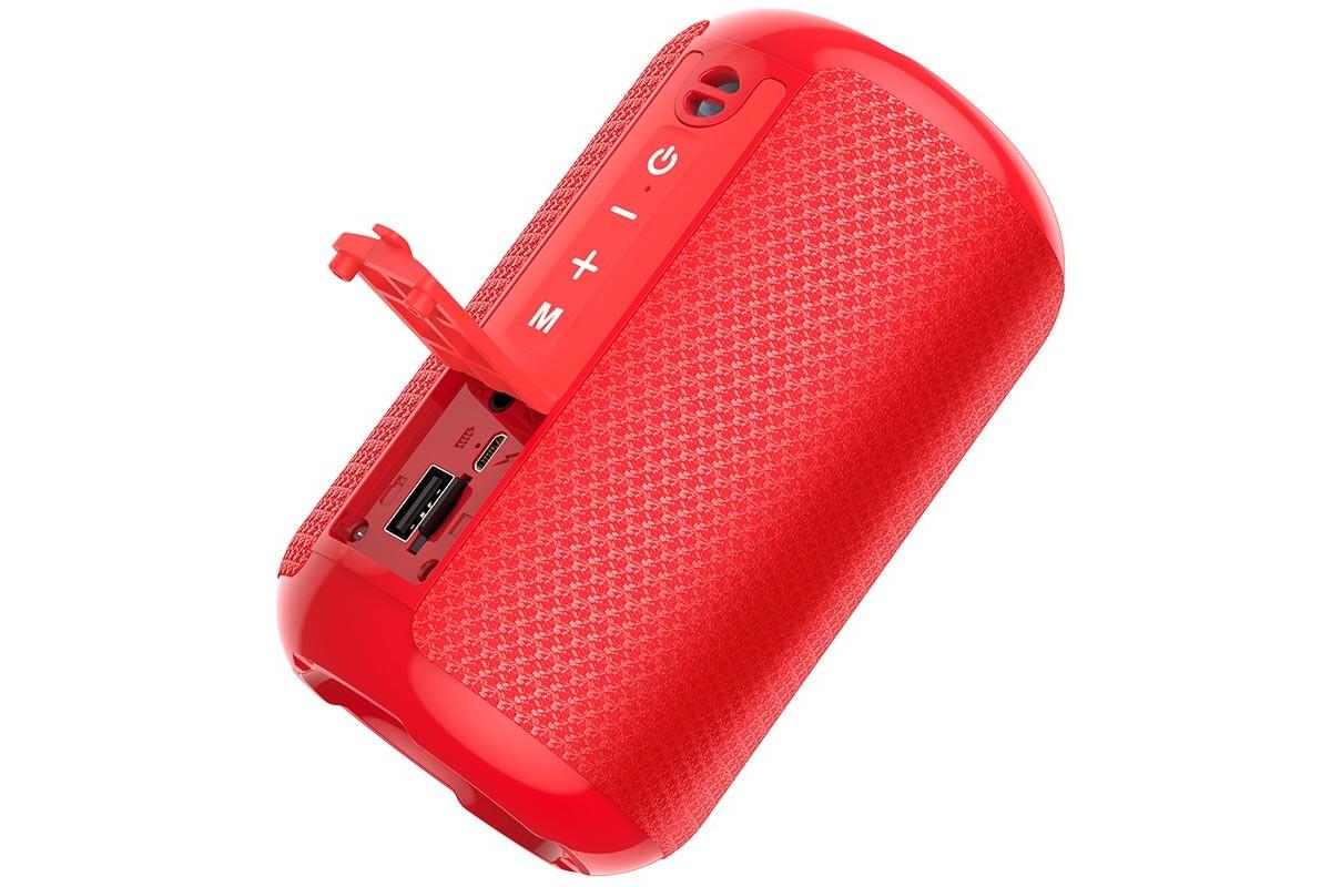 Портативная беспроводная акустика HOCO HC1 Trendy sound sports BT цвет красный