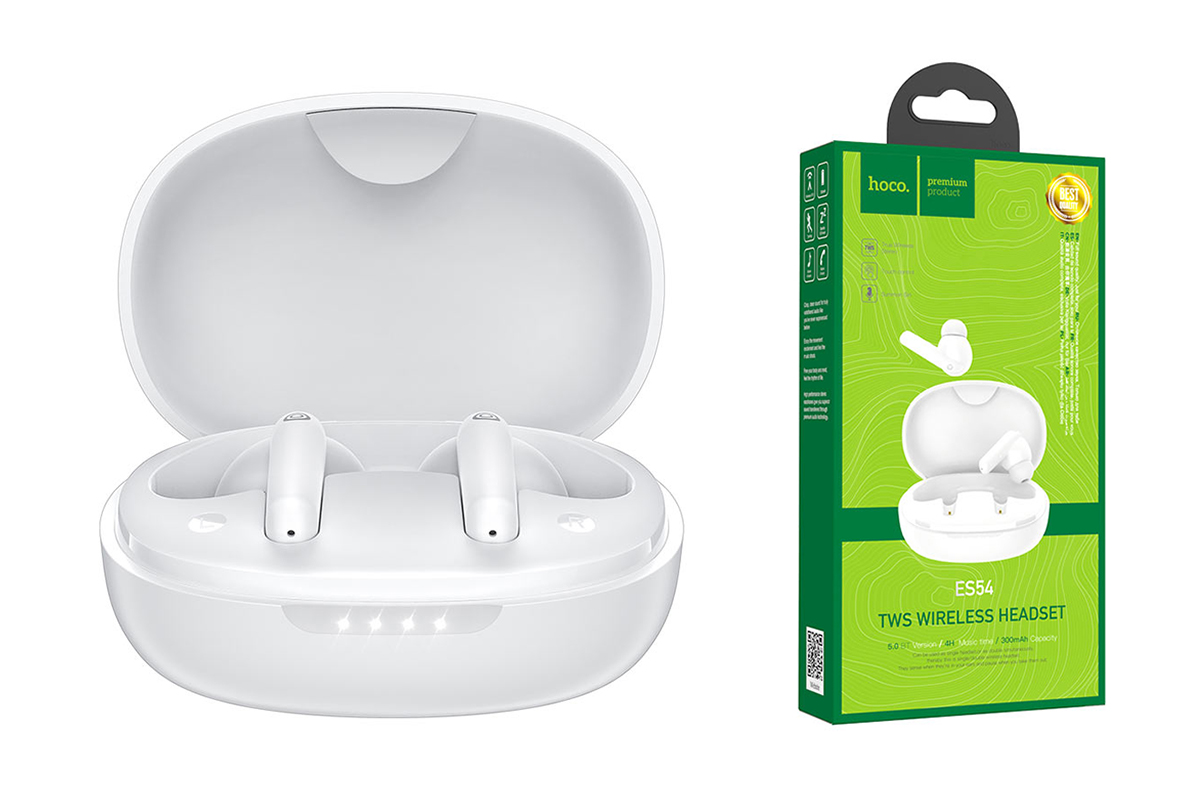 Bluetooth-наушники ES54 GorgeousTWS wiereless headset HOCO белая