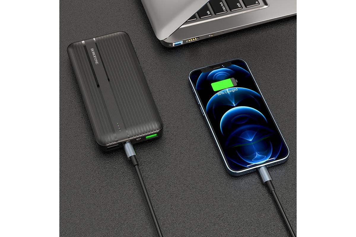 Универсальный дополнительный аккумулятор BOROFONE BJ9 Uranus PD+QC3.0 power bank (10000mAh) черный