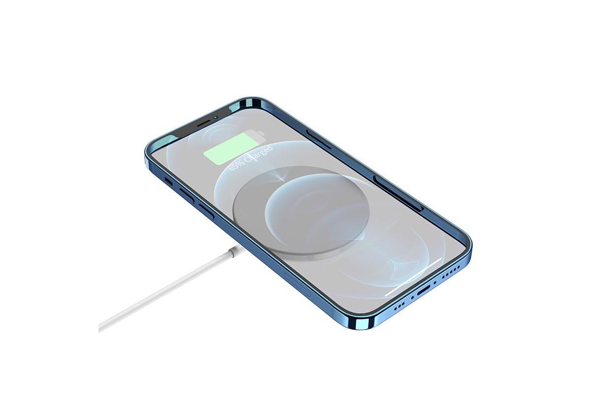 Настольная беспроводная зарядная станция HOCO CW29 magn. wireless fast charger белая