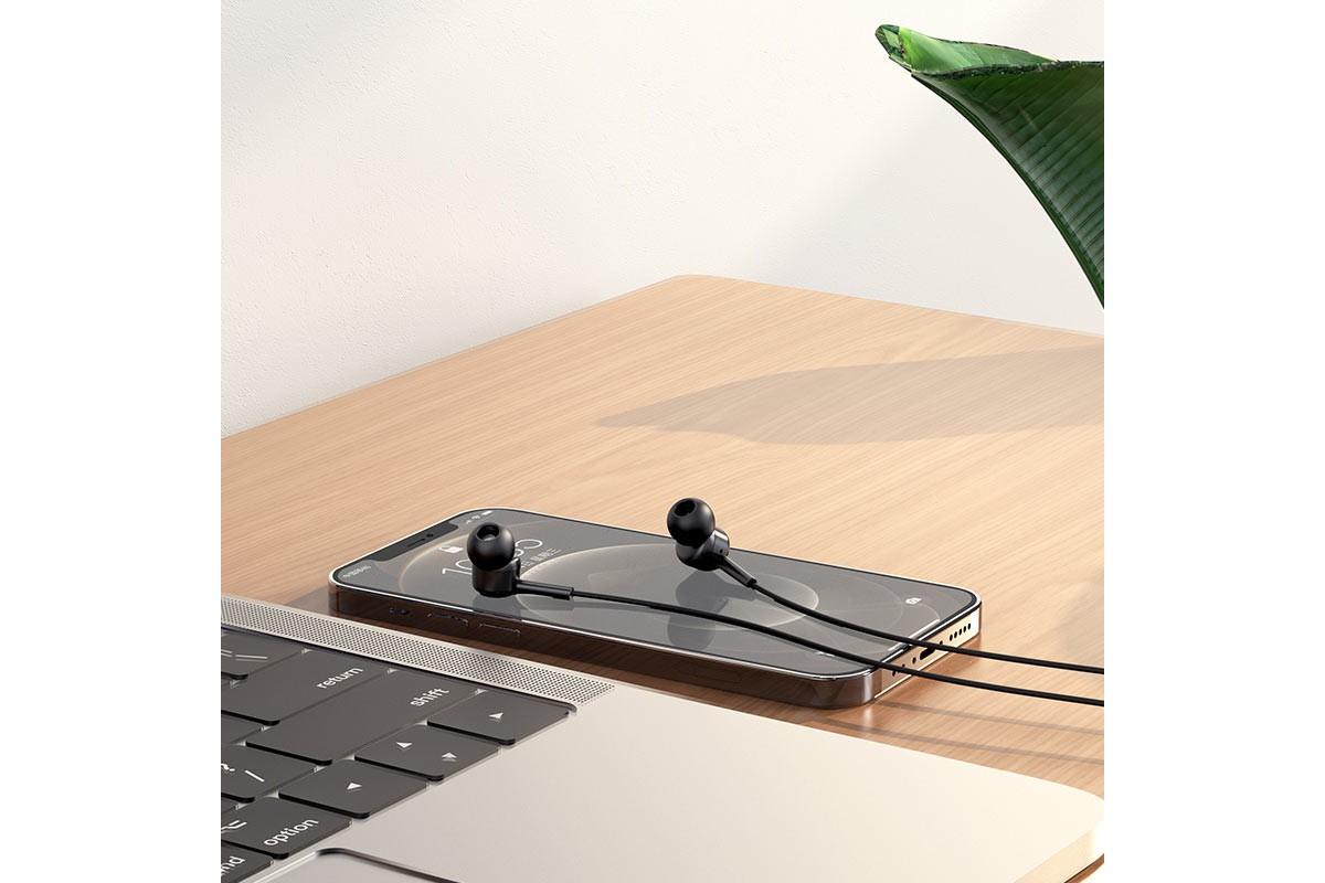 Наушники HOCO M82 La musique universal earphones черная