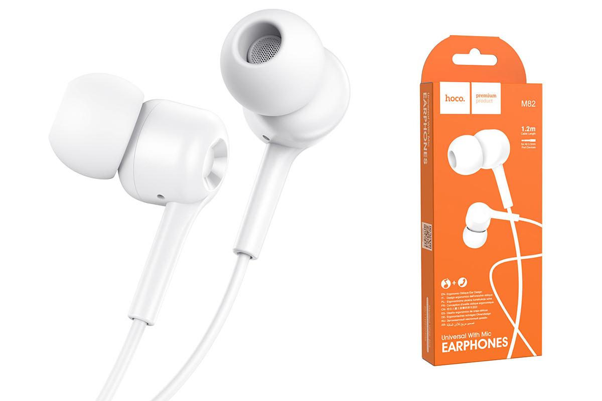 Наушники HOCO M82 La musique universal earphones белая