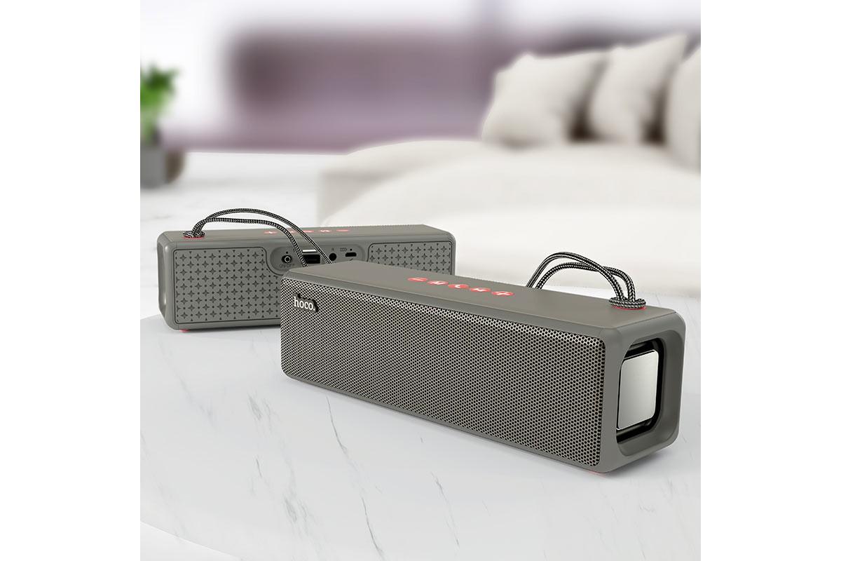 Портативная беспроводная акустика HOCO HC3 Bounce sports BT цвет серый