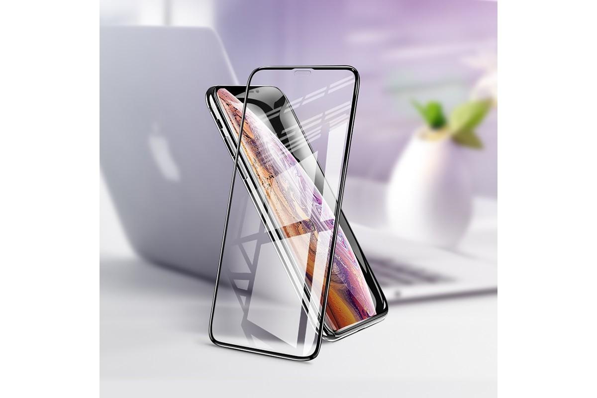 Защитное стекло дисплея iPhone X/XS/11 Pro (5.8)  HOCO G2 3D Anti-shock Full Screen HD tempered  черное