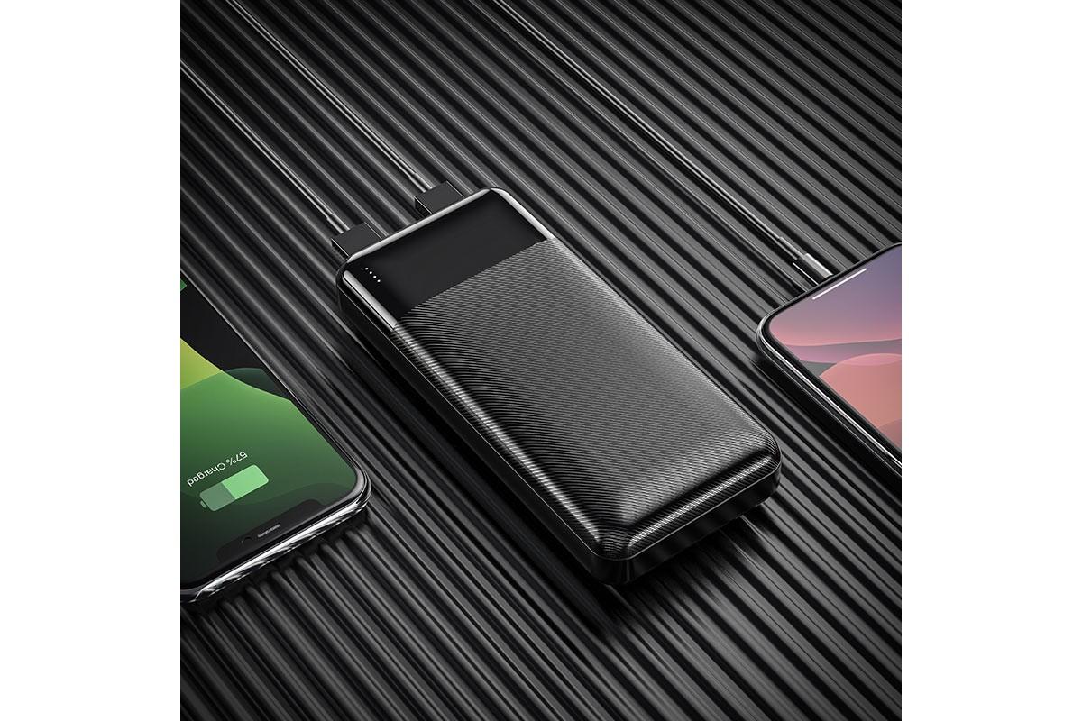 Универсальный дополнительный аккумулятор HOCO J72A Easy travel power bank (20000mAh) черный