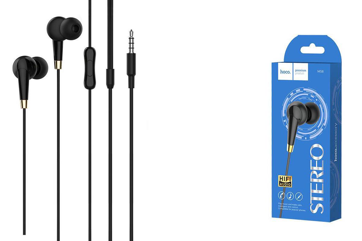 Гарнитура HOCO M58 Amazing universal earphones черная