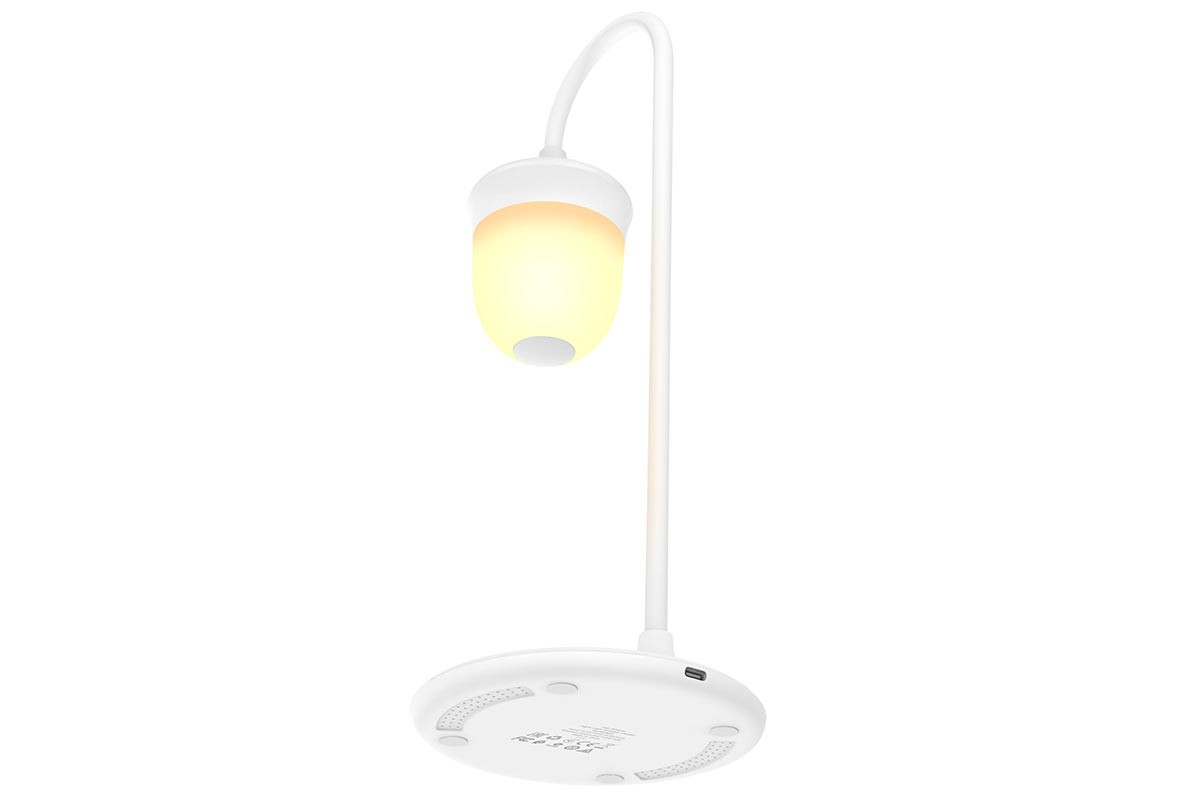 Настольная беспроводная зарядная станция-лампа Borofone BQ8 ночной светильник wireless charger белая