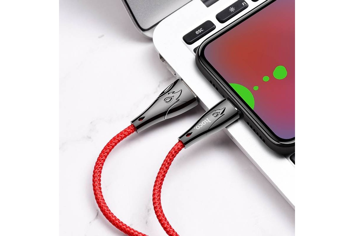 Кабель USB micro USB HOCO U75 Blaze magnetic charging data cable for Micro (красный) 1 метр