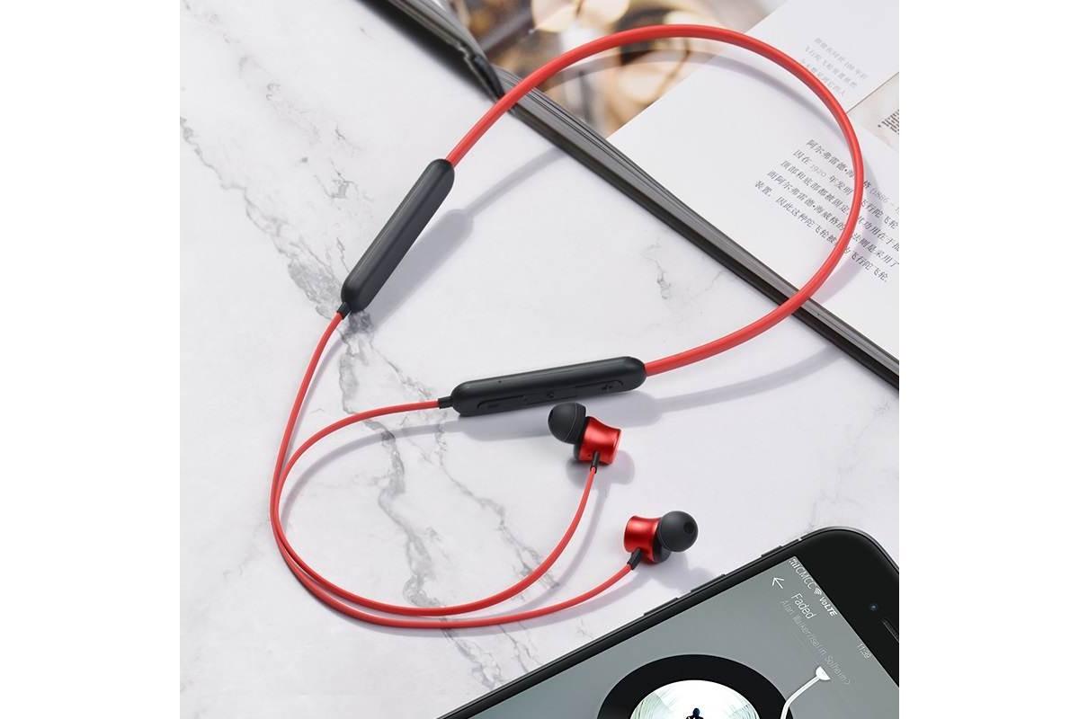 Bluetooth-гарнитура ES29 Graceful sports wireless headset HOCO красная