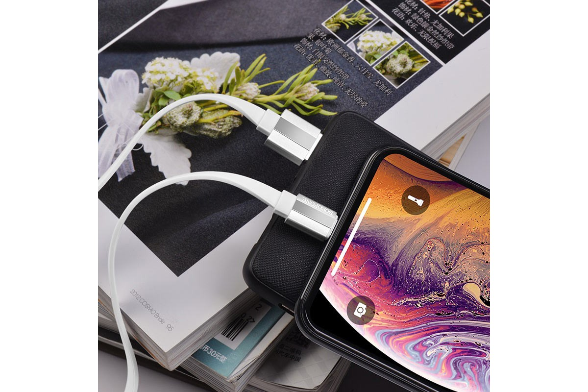 Кабель для iPhone BOROFONE BU8 Glory charging data cable for Lightning 1м белый