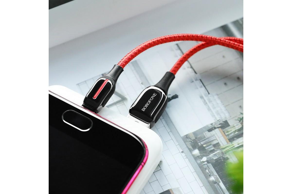 Кабель USB micro USB BOROFONE BU14 Heroic charging data cable (красный) 1 метр