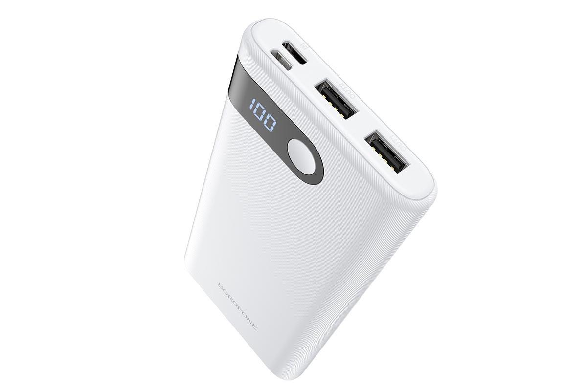Универсальный дополнительный аккумулятор BOROFONE BT35 Smart Force (10000mAh) белый