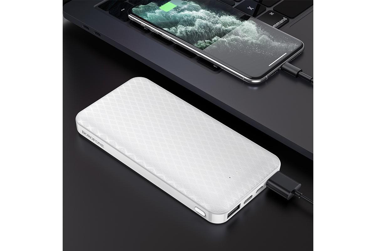 Универсальный дополнительный аккумулятор BOROFONE BJ3 Minimalist power bank (10000mAh) белый