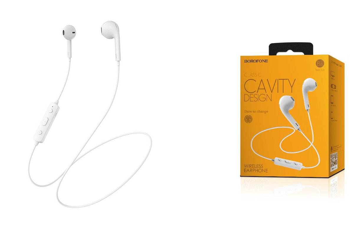 Bluetooth-гарнитура BE22 FreeRun Sports Wireless Earphone  BOROFONE белая