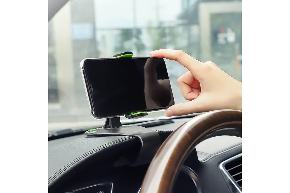 Держатель авто BOROFONE BH16 с креплением на козырек панели + номер телефона цвет черный