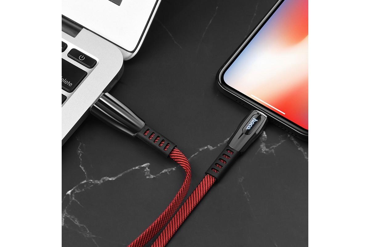 Кабель для iPhone HOCO U70 Splendor charging data cable for Lightning 1м красный