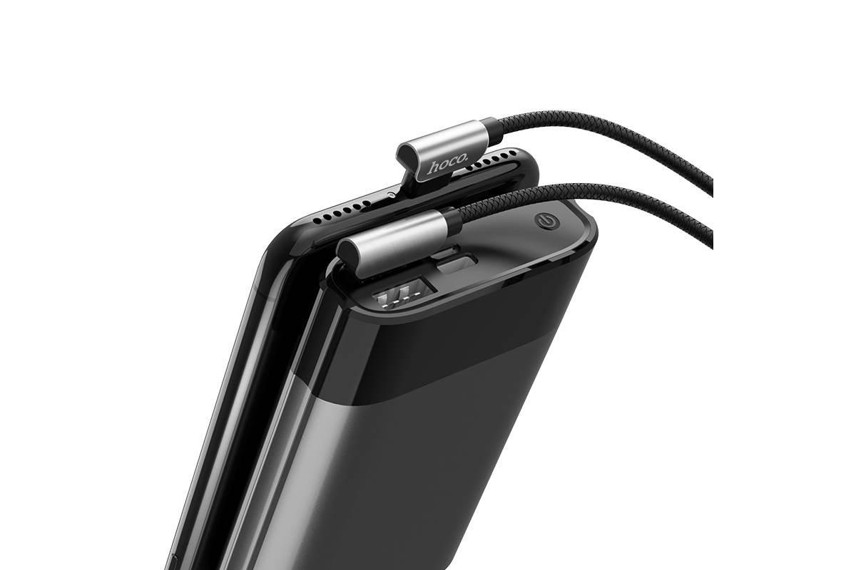 Кабель для iPhone HOCO U42 exquisite steel lightning charging data cable 1м черный