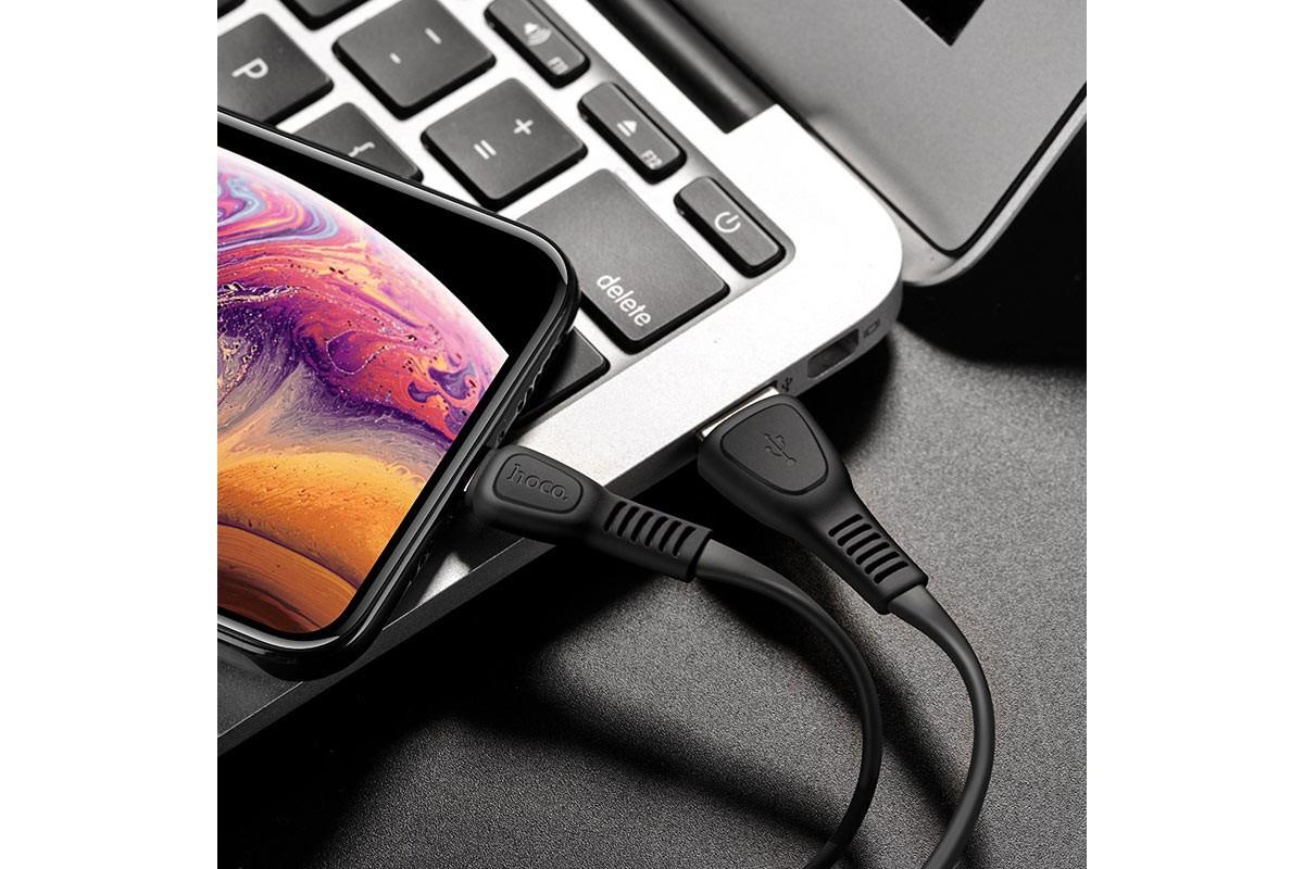 Кабель для iPhone HOCO X40 Noah charging data cable for Lightning 1м черный