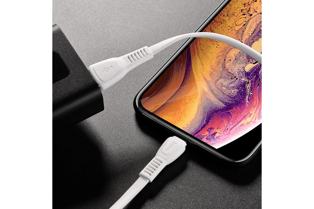 Кабель для iPhone HOCO X40 Noah charging data cable for Lightning 1м белый