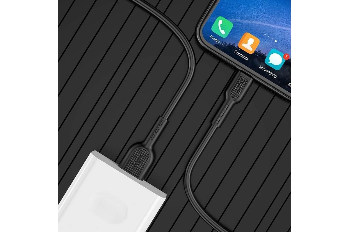 Кабель USB micro USB HOCO X33 Micro 4A Surge flash charging data cable  (черный) 1 метр