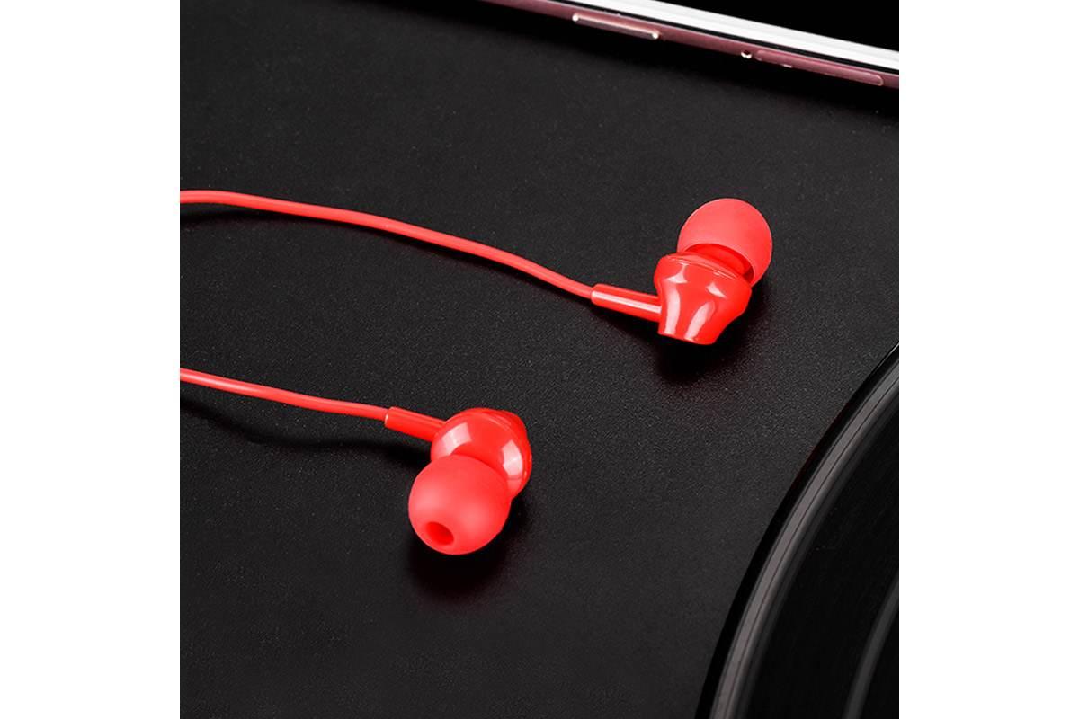 Гарнитура HOCO M14 inital sound universal 3.5мм красная