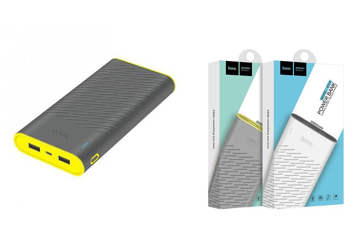 Универсальный дополнительный аккумулятор HOCO B31A Rege Bank 30000 mAh серый