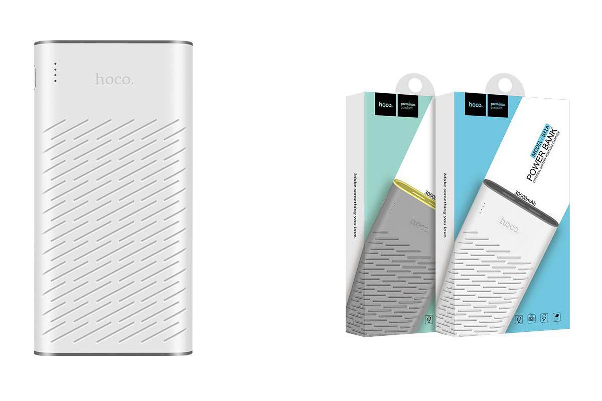 Универсальный дополнительный аккумулятор HOCO B31A Rege Bank 30000 mAh белый